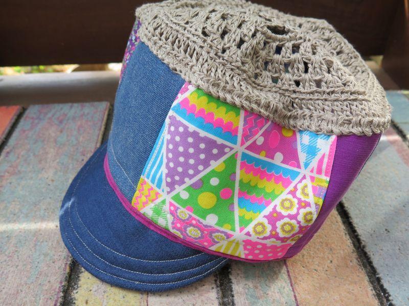 画像2: ガーランド*パッチワーク*ピースマーク帽子