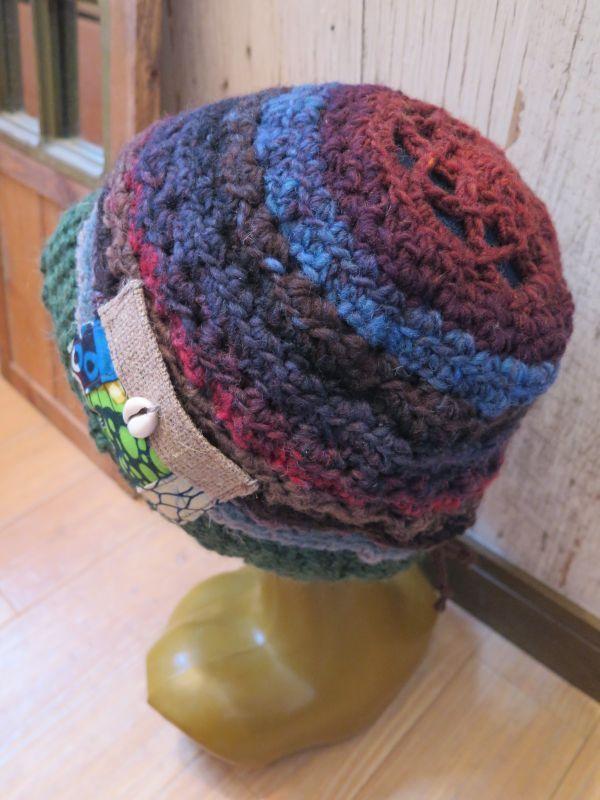 画像1: アフリカンニット帽*みどり
