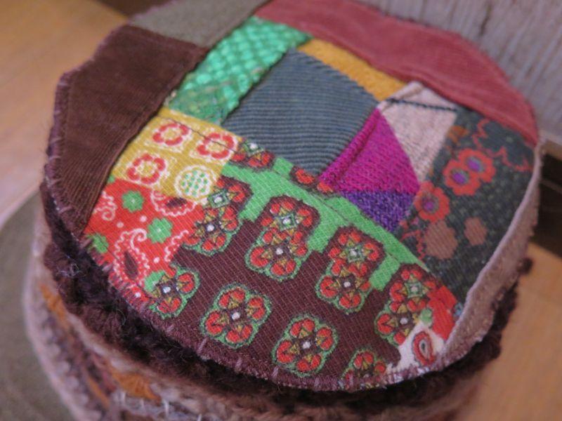 画像2: レトロパッチワーク*お花*つば付き帽子