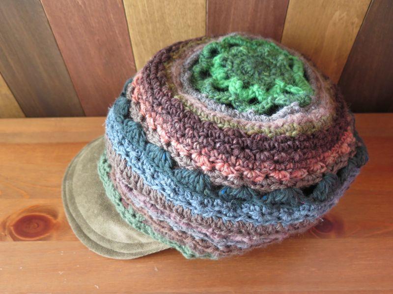 画像2: ゆったり*あったかカーキ帽子