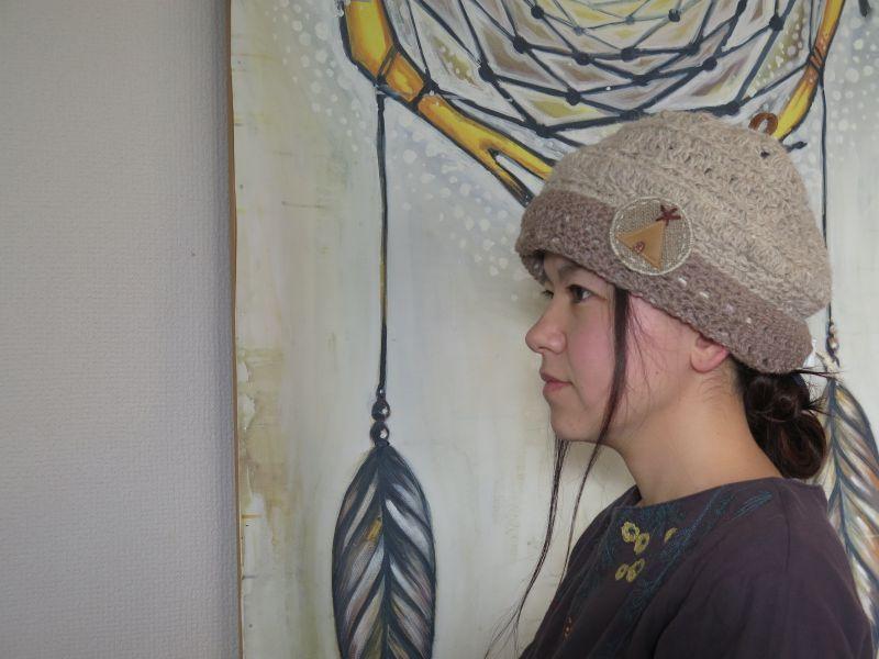 画像4: 犬の毛糸で編んだティピニット帽