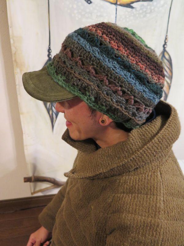 画像5: ゆったり*あったかカーキ帽子