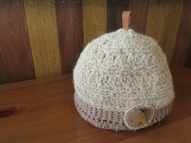 画像2: 犬の毛糸で編んだティピニット帽