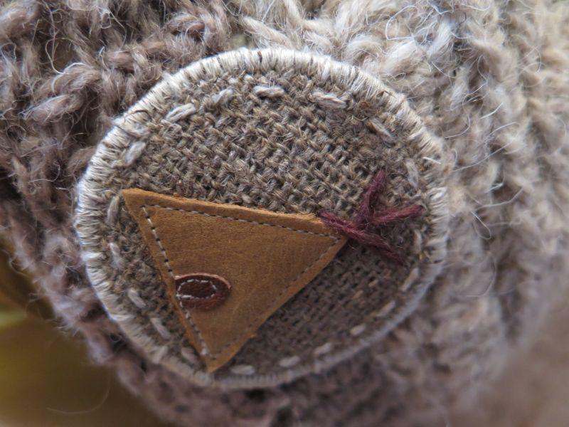 画像3: 犬の毛糸で編んだティピニット帽