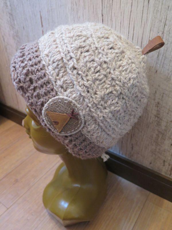 画像1: 犬の毛糸で編んだティピニット帽